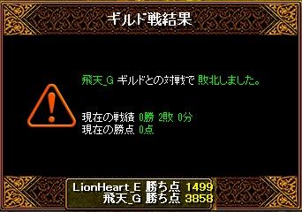 3月16日 ライオンGv VS飛天_G様