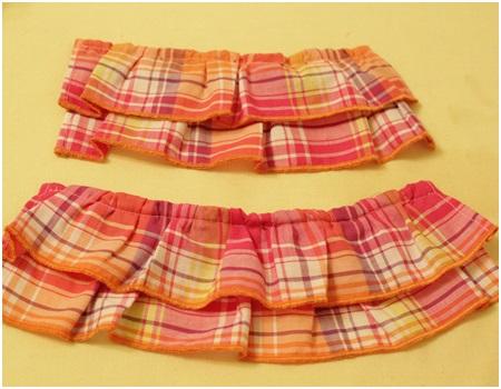 おレンジのスカート