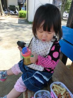 久しぶりに公園でお弁当