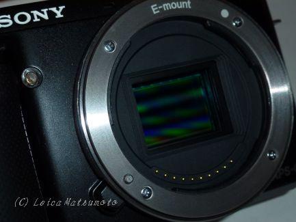 NEX F3のイメージセンサー