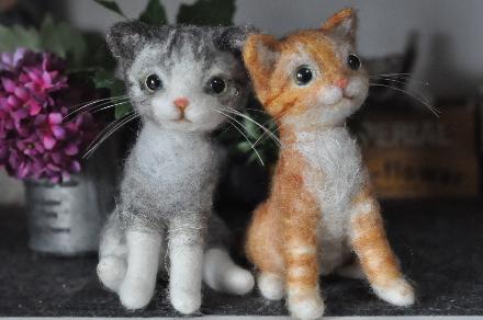 フェルト縞猫201403100009(1)