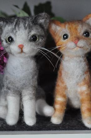 フェルト縞猫201403100015(1)