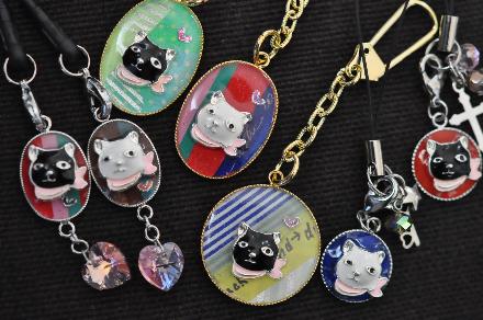 白黒猫レジン201403160022