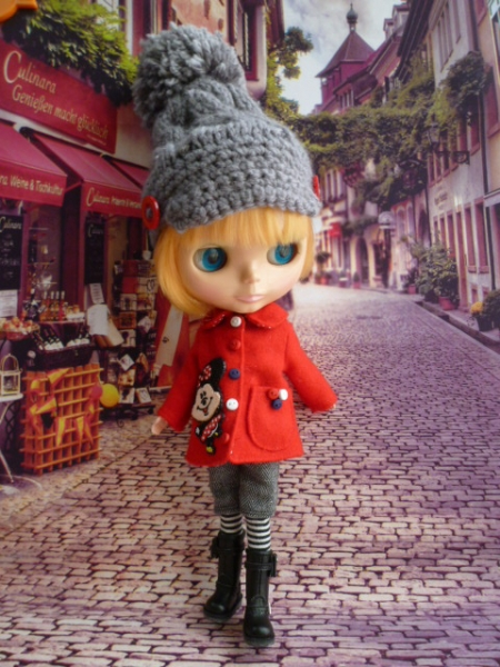赤いコート♪