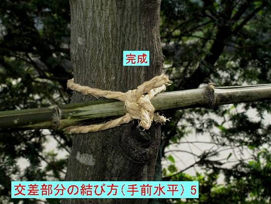 交差部分の結び方(手前水平)5jpg