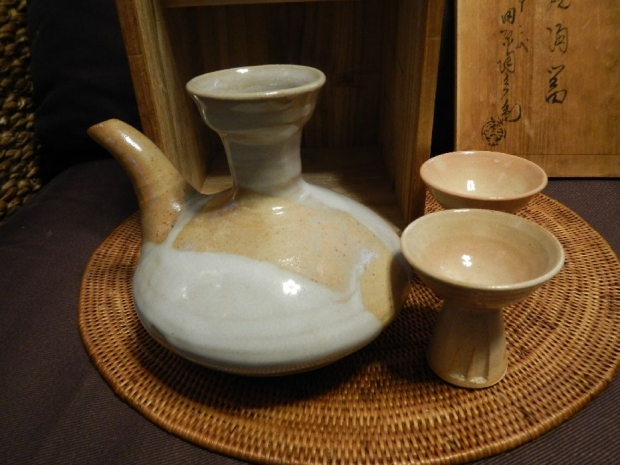 萩焼酒器 (3)