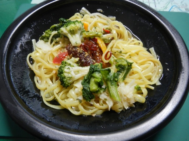 菜の花と鶏肉のアンチョビソース (2)
