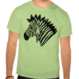 Indian zebra tshirt_zazzle