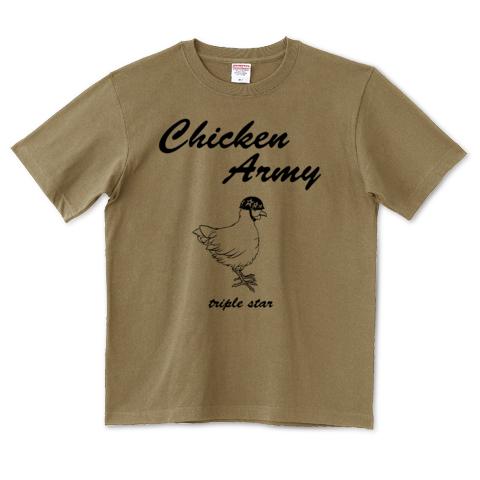 Chicken Army_サンドカーキー_T