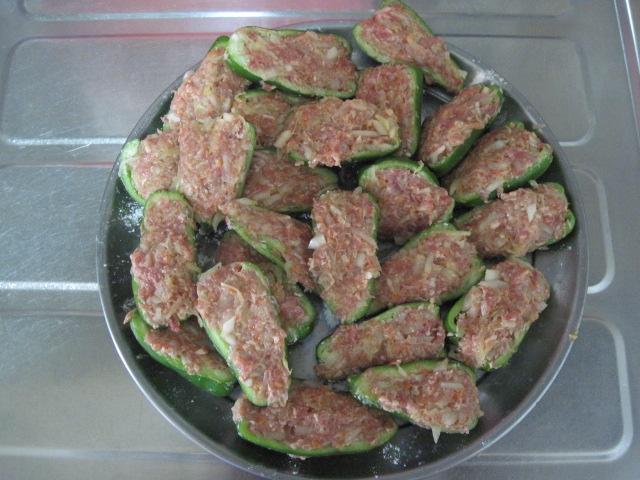 ピーマン肉詰め3