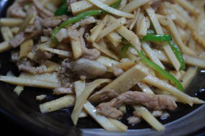 竹の子の細切り炒め