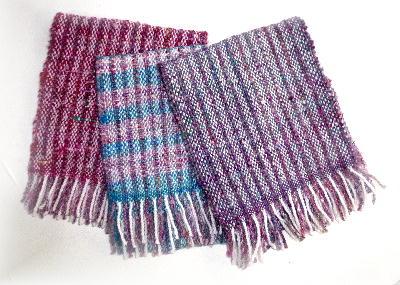 手紡ぎマフラー1