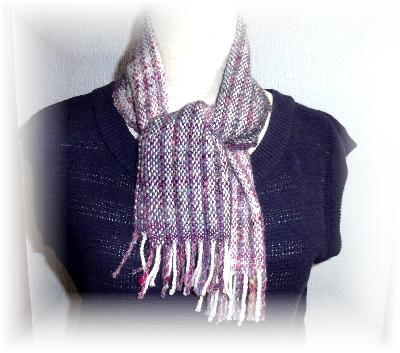 手紡ぎマフラー2