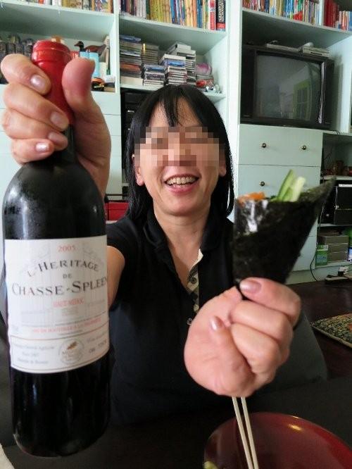 赤ワイン、けいこちゃん