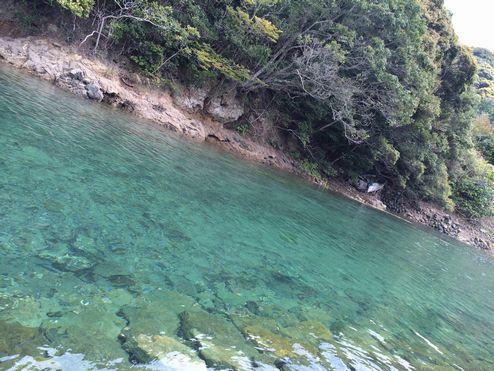 この水の透明感・・!