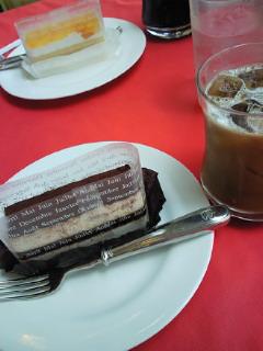 母とケーキ