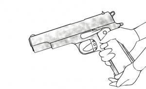 銃描き方講座ムラ