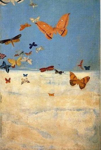 三岸好太郎 雲の上を飛ぶ蝶