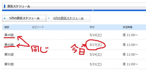 ゲームマニアックス放送スケジュール20140517