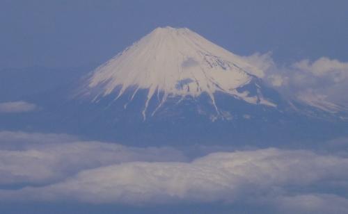 飛行機からの富士140411