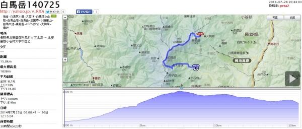 白馬岳140725