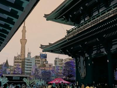 はとバスのパンフレットに乗っていた浅草&東京スカイツリーの写真の構図もほぼ一緒でした。。。芸がない!