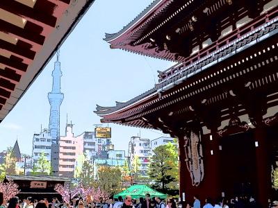 浅草散策&隅田川クルージングのツアーでした。