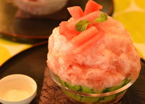 【かき氷】雪うさぎ「生搾り西瓜」