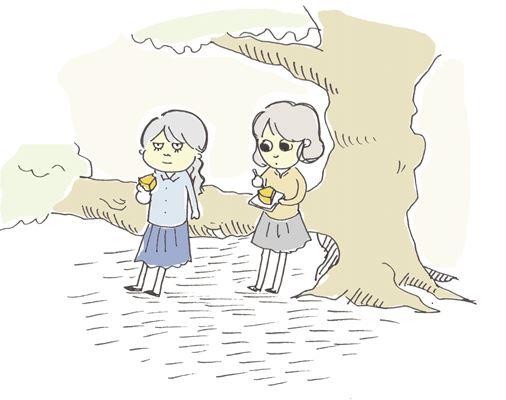 桜の木の下_R