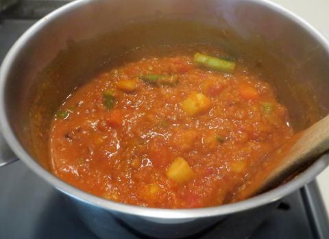 レンズ豆のカレー、完成