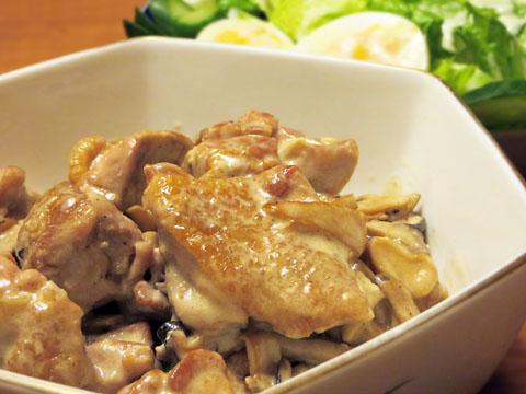 鶏もも肉のクリーム煮