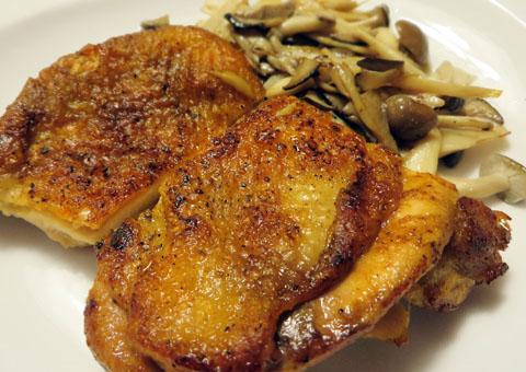 鶏もも肉のステーキ