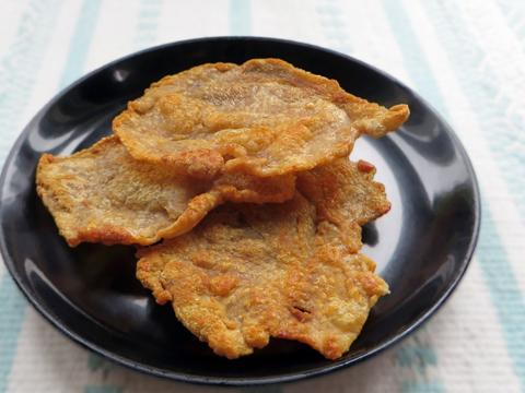鶏皮煎餅3枚