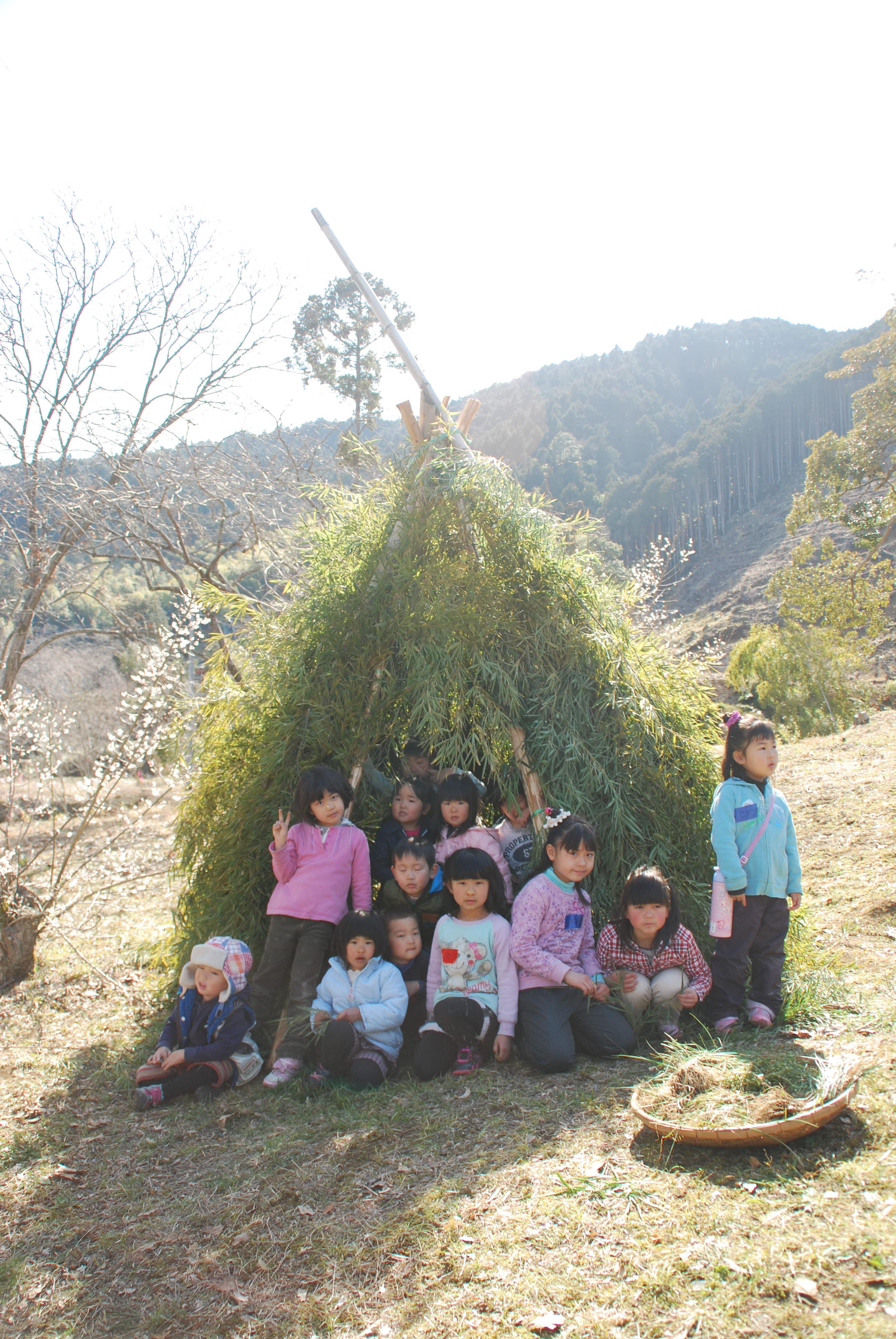 140308森と寺子屋のようちえん 竹ティピー (83)◆
