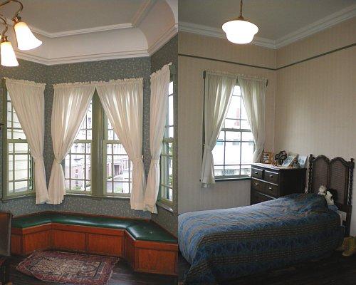 旧東奥義塾外人教師館・2F主寝室と子供部屋