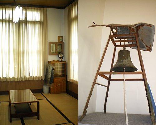 鏡ヶ丘記念館・応接室と時鐘