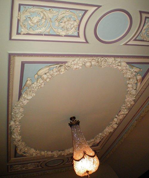 綿業会館・本館特別室天井