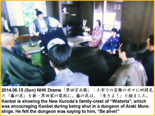 500 20140615 TV官兵衛04:藤の花家紋にTag