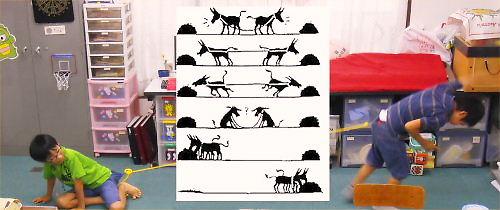 03a 500 20140817 #2えいごでコント練習:two donkeys