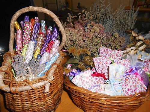 01 500 20140708 Lavender_sticks Bags in よりみちCafe01