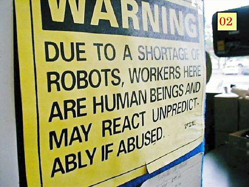 02 Shortage of Robots tag