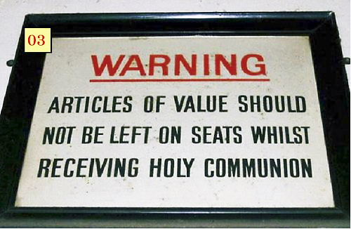 03 Warning Holy Communion tag