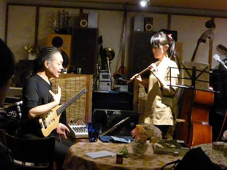 g村山義光講師と篠笛の受講者