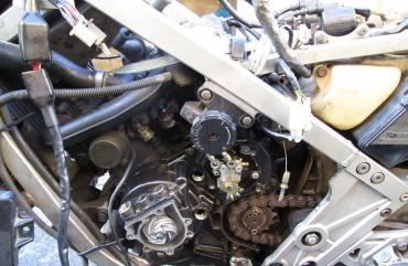 Kawasaki KR250S メインハーネス張り替え