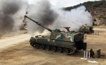 K9 자주포 韓国陸軍 155mm自走榴弾砲