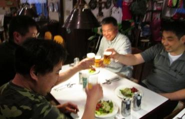 「乾杯!」 ペンション シルバーストーン 2014年KROG軽井沢ミーティング 長野県北佐久郡軽井沢町長倉2484−35