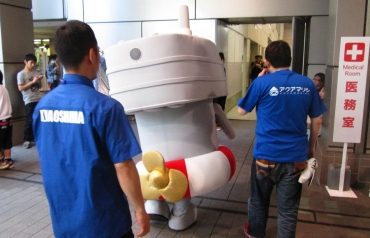 2014年 静岡ホビーショー 連装砲ちゃん!艦隊これくしょん ぜかまし 艦これ 駆逐艦島風型  アオシマ文化教材社