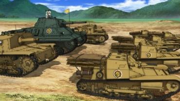 ガールズパンツァー OVA「これが本当のアンツィオ戦です!」Carro Armato P26/40  Semoventeセモヴェンテ da 75/18 カルロヴェローチェ L3/35 C.V.35