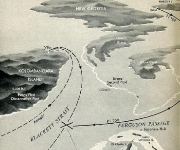 ブラケット海峡  ソロモン諸島 コロンバンガラ島 ニュージョージア島 ベララベラ島