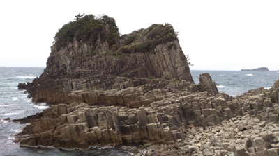 越前海岸の奇岩
